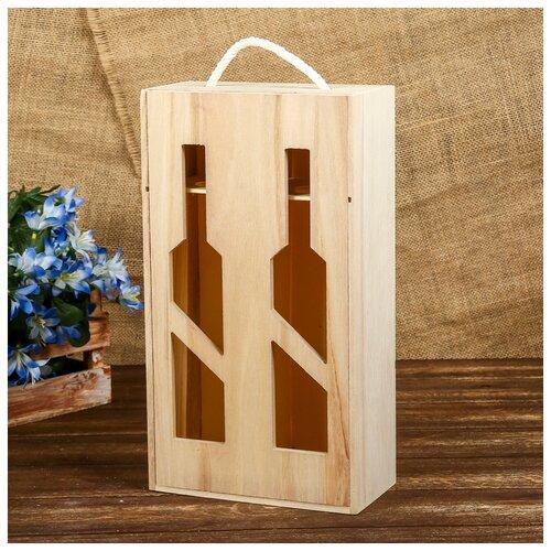 Купить Шкатулка дерево под роспись под 2 бутылки Виноделие 35х19, 5х10 см 3743000, Сима-ленд, Роспись предметов