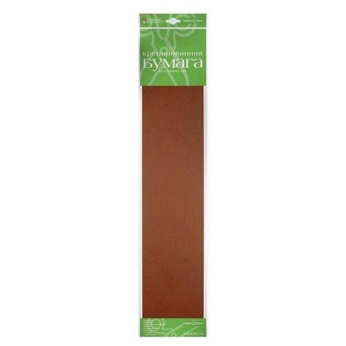 Бумага креповая, коричневая