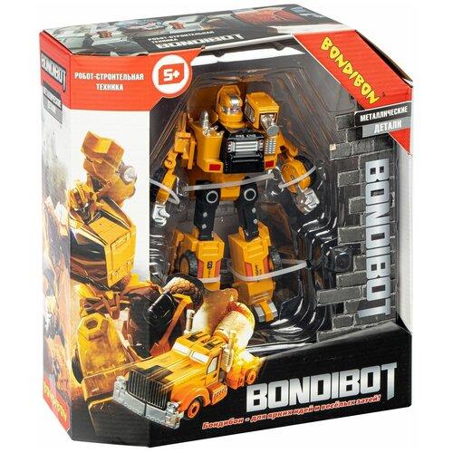 Трансформер 2в1 BONDIBOT робот-строительная техника (самосвал) конструкторы bondibon 2 в 1 техника самосвал самолет 361 деталь