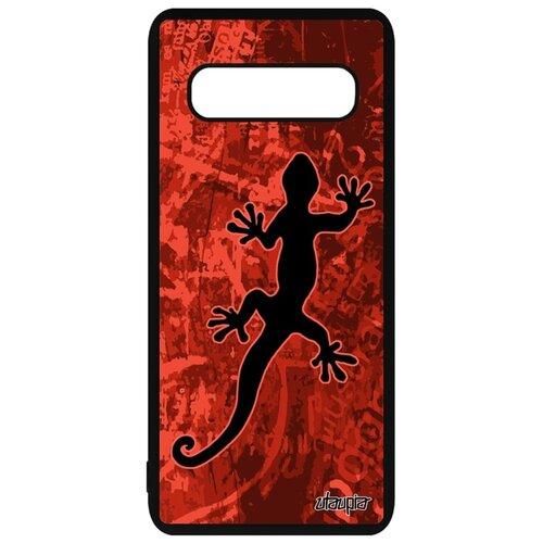 подвески бижутерные aztek амулет защитный змей ёрмунганд Чехол на Samsung Galaxy S10, Саламандра Змей Амулет