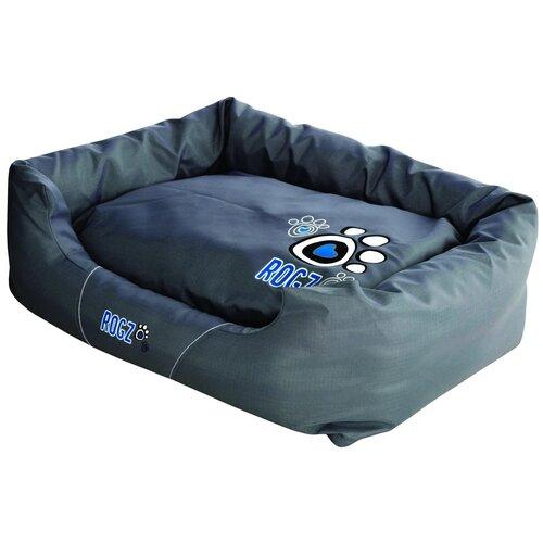 Лежак для собак и кошек Rogz Spice Pod Turquoise Paw PPLCG 88х55х26 см бирюзовый