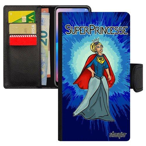 Чехол книжка на смартфон Самсунг Галакси S10Е французский дизайн Суперпринцесса Комикс