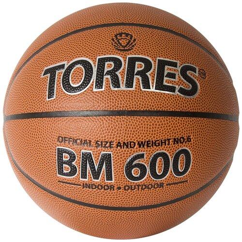 Баскетбольный мяч TORRES B32026, р. 6 коричневый