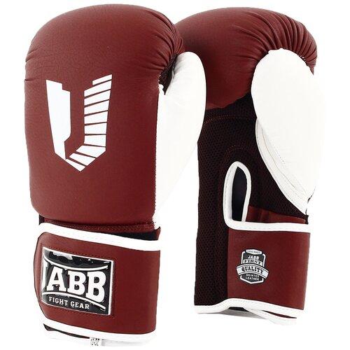 Перчатки бокс.(иск.кожа) Jabb JE-4056/Eu Air 56 коричневы/белый 8ун.