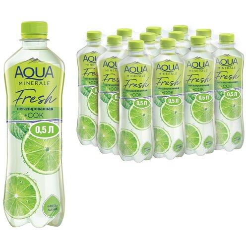 Фото - Вода питьевая Aqua Minerale негазированная с соком Мята-лайм, ПЭТ, 12 шт. по 0.5 л вода питьевая aqua minerale негазированная 2 л