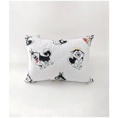 Подушка со съемным стеганым чехлом на молнии 50x70 (поплин, 100% хлопок)