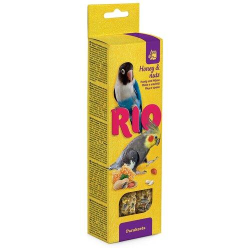 Лакомство для птиц RIO с медом и орехами 150 г rio rio палочки для средних попугаев с медом и орехами 2 шт 75 г