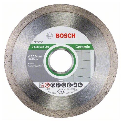 Фото - Диск алмазный отрезной BOSCH Standard for Ceramic 2608602201, 115 мм 1 шт. диск алмазный отрезной bosch standard for ceramic 2608602201 115 мм 1 шт