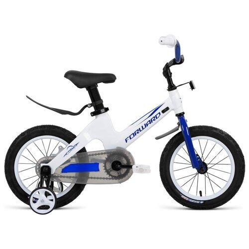 Детский велосипед FORWARD Cosmo 14 (2021) белый (требует финальной сборки) детский велосипед forward nitro 18 2020 оранжевый белый требует финальной сборки