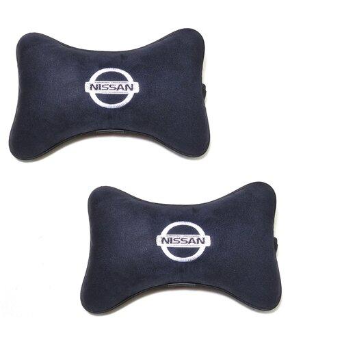 Автомобильная подушка на подголовник Auto Premium NISSAN черный
