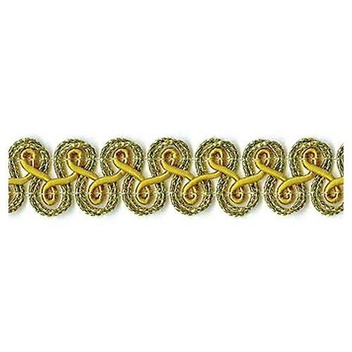 Купить Тесьма PEGA декоративная, золотистый люрекс, 12 мм 62% металлизированное волокно, 38% вискоза, Декоративные элементы