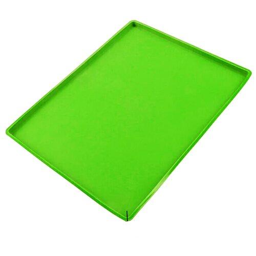 Силиконовый коврик для выпечки, зеленый, 31х26х0,9 см, Kitchen Angel KA-SILMAT-09 крышка kitchen angel ka lid 05 зеленый