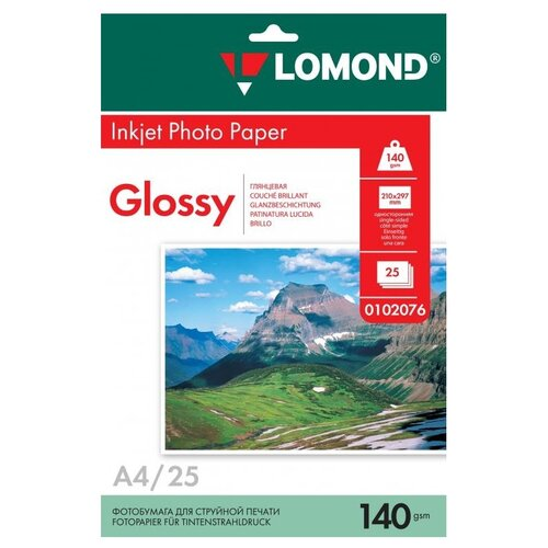 Фото - Бумага Lomond A4 0102076 140 г/м2 25 лист., белый бумага lomond a4 2100001 70 г м2 100 лист
