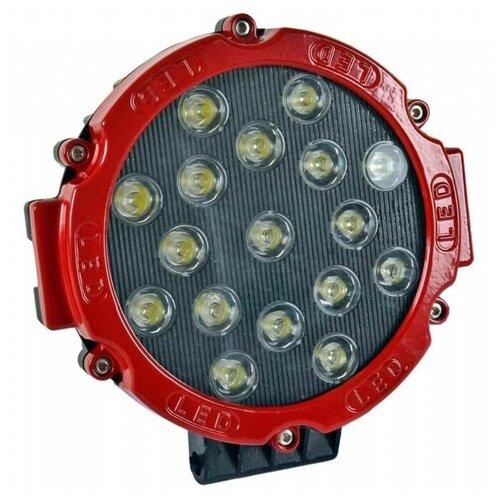 Герметичные,металлические светодиодные фары на все виды автомобилей .Цвет ободка красный(17*17*5см)мощность 30 Вт.белый свет
