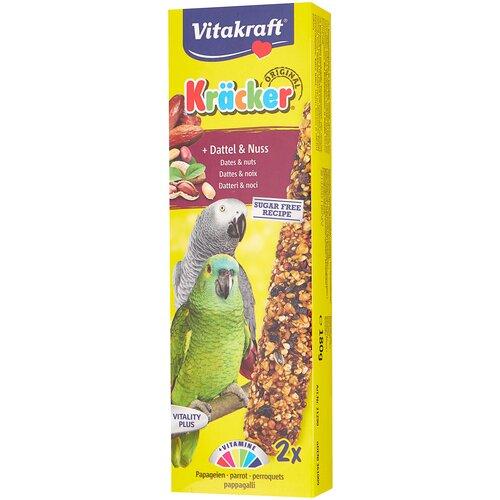 Лакомство для птиц Vitakraft Крекеры для африканских попугаев фрукты и орехи (21290) 180 г лакомство для кроликов vitakraft крекеры original свекла и овощи 112 г