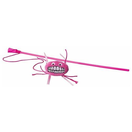 Фото - Игрушка для кошек Rogz Catnip Flossy Magic Stick pink rogz rogz catnip flossy magic stick pink игрушка дразнилка для кошек в виде удочки с плюшевым мячом розовая