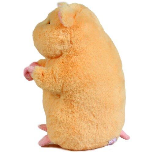 Купить Мягкая игрушка Хомяк 20см персиковый, Lapkin, Мягкие игрушки