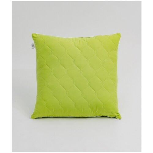 Подушка SELENA Crinkle line 70x70 см, Искусственный лебяжий пух, Зеленый
