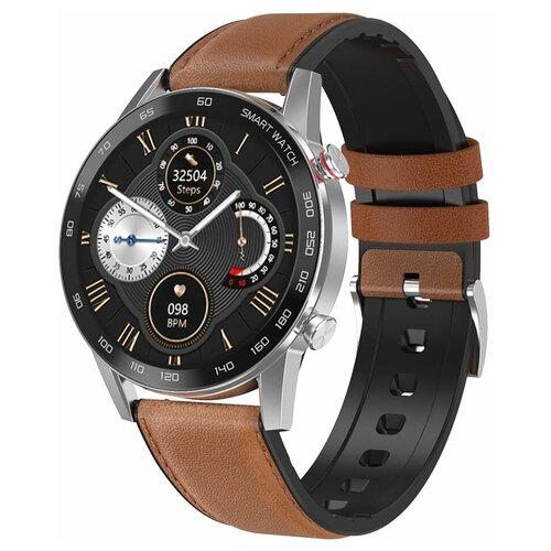 Часы Smart Watch DT95 GARSline черные (ремешок коричневая кожа)