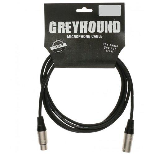KLOTZ GRG1FM10.0 GREYHOUND готовый микрофонный кабель, никелированные разъемы Klotz XLR мама XLR папа, длина 10 м