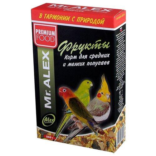 Фото - Mr. ALEX корм Фрукты для средних и мелких попугаев mr alex basic корм двп минерал 500г