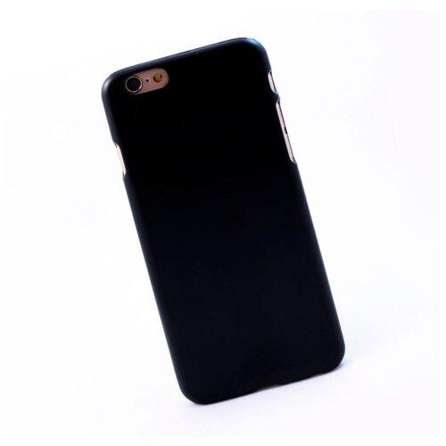 Чехол для iPhone 6/6S пластиковый прорезиненный чёрный