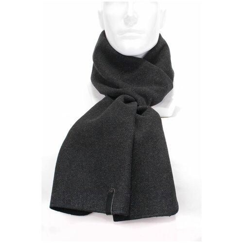 Шарф Antar 27114АМ из шерстяного ткани, темн. серый