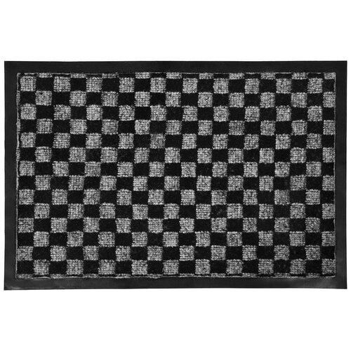 Придверный коврик VORTEX Hall, размер: 0.6х0.4 м, черно-серый