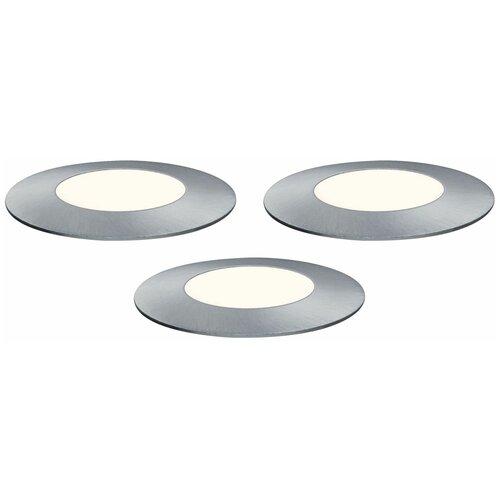 Paulmann Набор светильников Outd Plug+Shine Set Boden EBL Sil 93949 3 шт недорого
