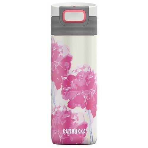 Термокружка Kambukka Etna Pink Blossom, 0.3 л белый/розовый