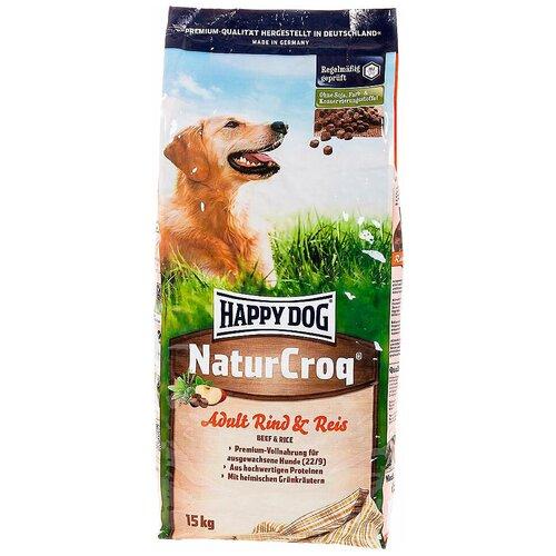 Сухой корм для собак Happy Dog NaturCroq, говядина, с рисом 15 кг