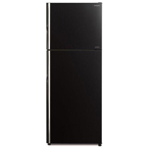 Двухкамерный холодильник Hitachi R-VG 472 PU8 GBK чёрное стекло