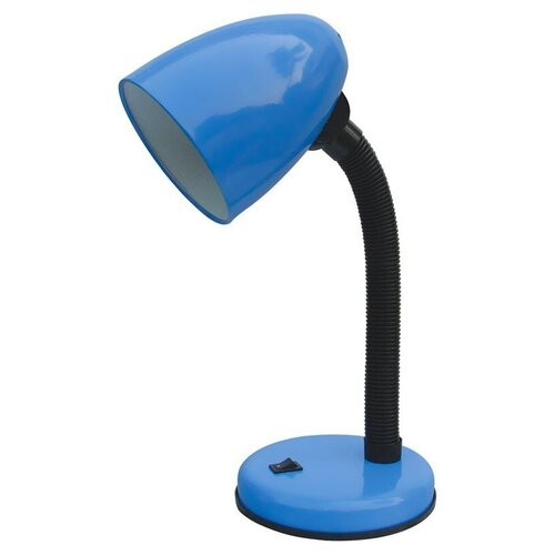 настольная лампа светодиодная energy en led20 1 бело зеленый 5 вт Настольная лампа Energy EN-DL12-1 синяя, 40 Вт