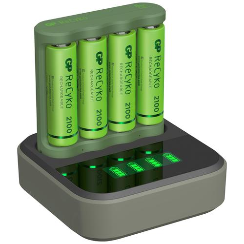 Фото - Аккумулятор Ni-Mh 2100 мА·ч GP ReCyko 2100 Series AA + зарядное устройство USB B421 + док станция D451, 4 шт. gp gpu811 и 4 аккум aa hr6 2700mah адаптер gpu811gs270aahc 2cr4