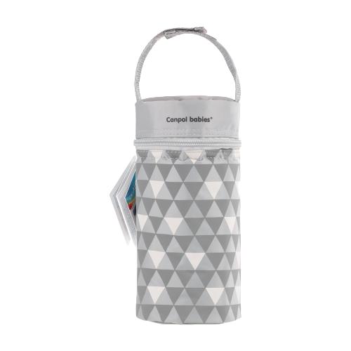 Купить Canpol Babies Термосумка для детских бутылочек Retro (69/010), серый, Бутылочки и ниблеры