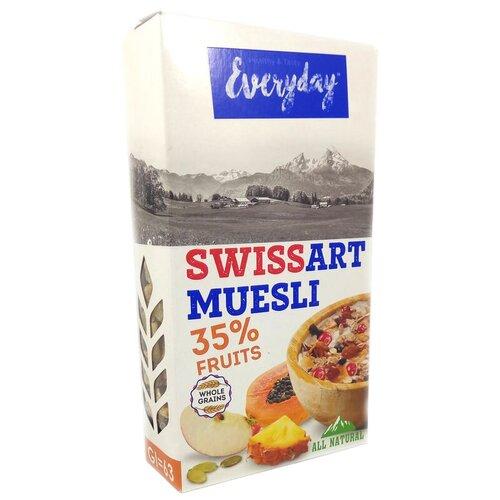 Фото - Мюсли Everyday хлопья Swiss Art с фруктами, коробка, 300 г мюсли axa muesli crispy хрустящие медовые хлопья и шарики с тропическими фруктами коробка 270 г