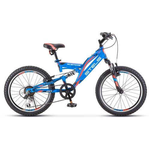 Подростковый горный (MTB) велосипед STELS Mustang V 20 V010 (2021) синий 13 (требует финальной сборки) велосипед stels 2612 v