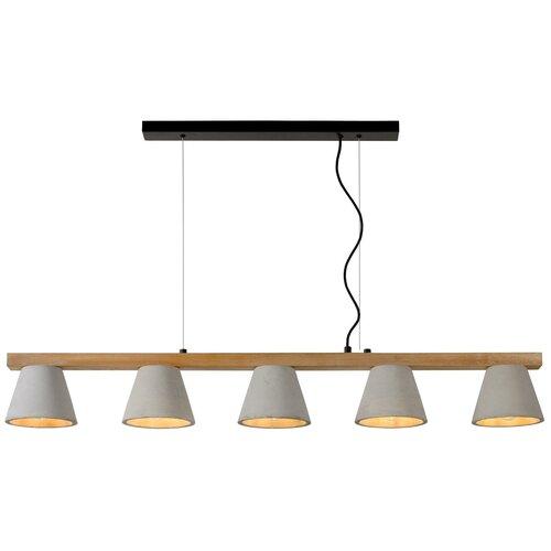 lucide mamba 09400 23 12 22 5 вт Потолочный светильник Lucide Possio 03413/05/41, E14, 200 Вт, кол-во ламп: 5 шт., цвет арматуры: коричневый, цвет плафона: серый