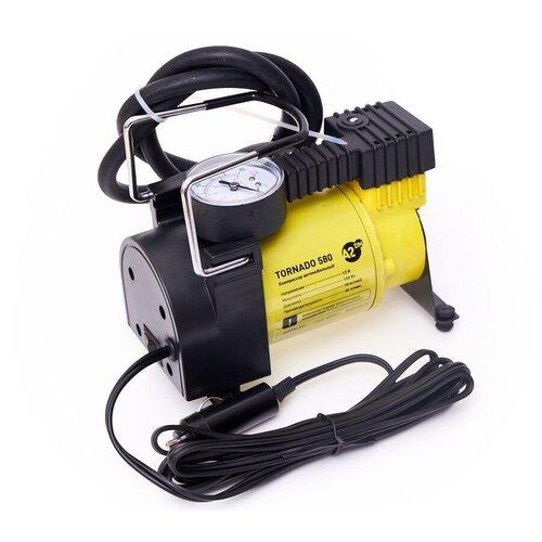 Автомобильный компрессор A2DM Tornado 580 в сумке желтый / черный