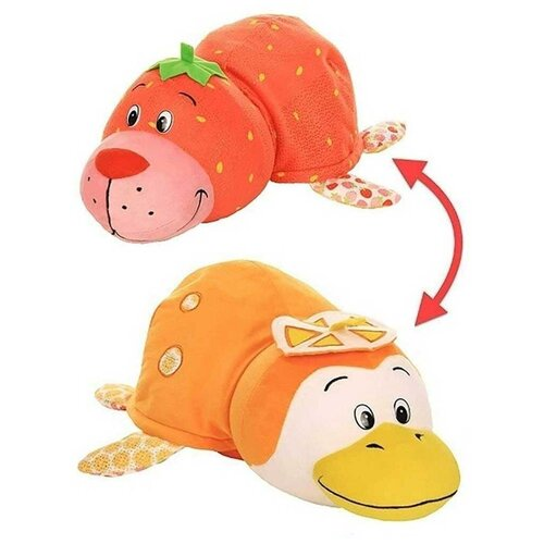 Мягкая игрушка 1 TOY Вывернушка Ням-Ням Морской котик-Пингвинчик с ароматом 35 см