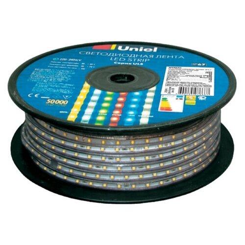 Фото - Светодиодная лента Uniel ULS-2835-60LED/m-10mm-IP67-220V-8W/m-50M-WW, 50 м светодиодная влагозащищенная лента uniel uls 2835 60led m 10mm ip67 220v 8w m 50m blue