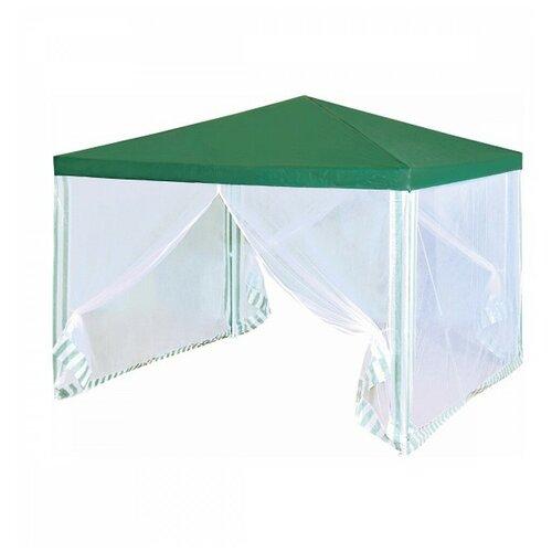 Шатер Green Glade 1028, 3 х 3 х 2.5 м белый/зеленый шатер green glade 1032 3 х 3 х 2 5 м синий белый