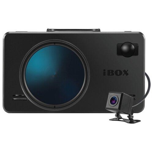 Видеорегистратор с радар-детектором iBOX iCON LaserVision WiFi Signature Dual + камера заднего вида, 2 камеры, GPS, ГЛОНАСС, черный