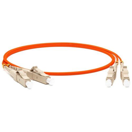 Патч-корд Hyperline FC-D2-62-LC/PR-LC/PR-H-2M-LSZH 2 м, оранжевый 0 pr на 100