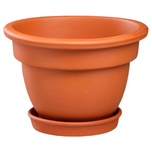 Горшок Красная глина с поддоном Кампана 18 x 18 x 13 см коричневый по цене 302