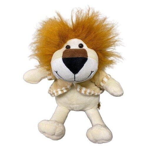 Мягкая игрушка Лев в кофте музыкальный светлый 30 см