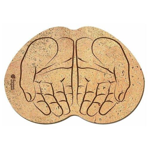 Банные штучки Коврик пробковый Ладони коричневый