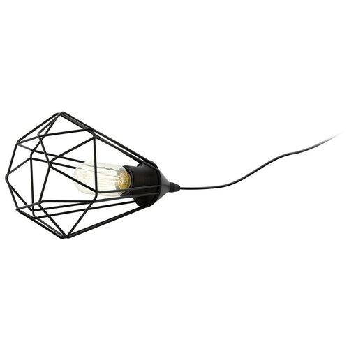 Лампа декоративная Eglo Tarbes 94192, E27, 60 Вт, цвет плафона/абажура: черный настольная лампа eglo almera 89116 60 вт