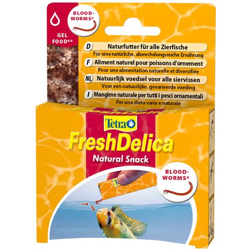Витамины и добавки для рыб Tetra FreshDelica Bloodworms, 48 г
