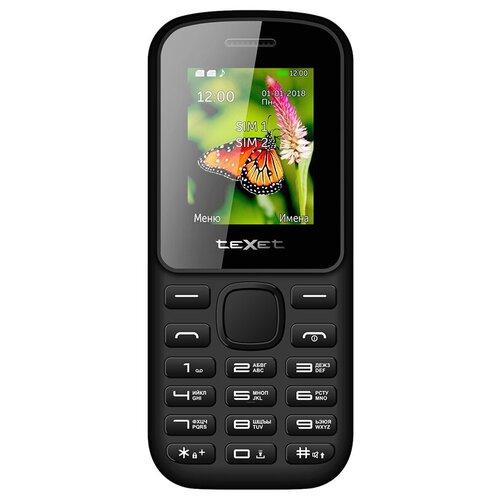 Телефон teXet TM-130 черный/красный